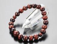 数珠ブレスレット 約8ミリ 赤虎目石 【腕輪念珠 レッドタイガーアイ 天然石 虎眼石 パワーストーン 107080006】