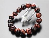 約12ミリ 赤虎目石 ブレスレット【レッドタイガーアイ】【パワーストーン】【天然石】