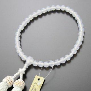 数珠 女性用 約7ミリ 白瑪瑙 正絹房 102070052 送料無料
