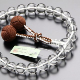 数珠 男性用 22玉 本水晶 梵天房 101220178 送料無料