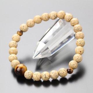 数珠ブレスレット 約7.5ミリ 星月菩提樹 虎目石 107070021