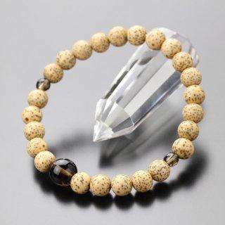 数珠ブレスレット 約7.5ミリ  星月菩提樹  茶水晶  107070023