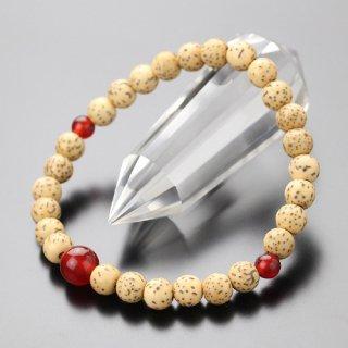 数珠ブレスレット 約6.5ミリ 星月菩提樹 瑪瑙 107060030