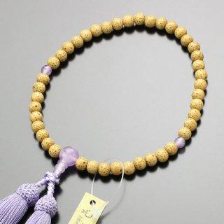 数珠 女性用 約6.5ミリ 星月菩提樹 藤雲石 正絹頭付松風房 102000009