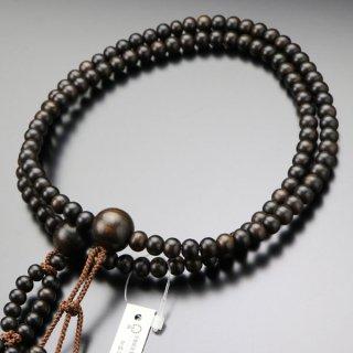 日蓮宗 数珠 男性用 尺二 縞黒檀(艶消し)梵天房 101660025