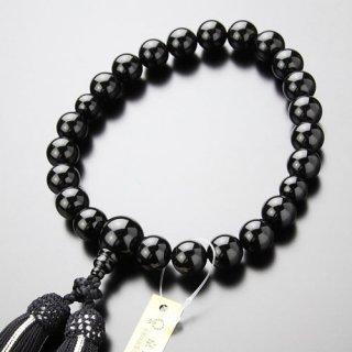 数珠 男性用 22玉 上質 黒オニキス 正絹2色房 101220051