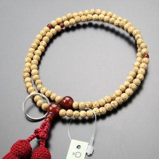曹洞宗 数珠 女性用 8寸 星月菩提樹 瑪瑙 本銀輪 正絹房 102440003 送料無料