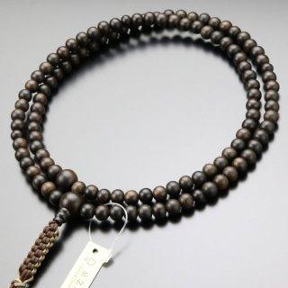 臨済宗 数珠 男性用 尺二 縞黒檀(艶消し)紐房 101990001