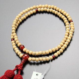 臨済宗 数珠 女性用 8寸 星月菩提樹 瑪瑙 正絹房 102990001