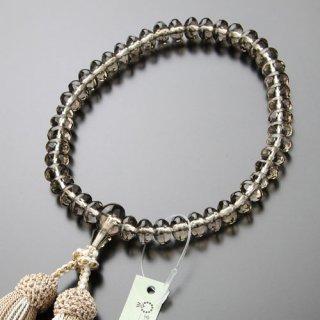 数珠 女性用 スターシェイプ 茶水晶 正絹2色房 102000028 送料無料