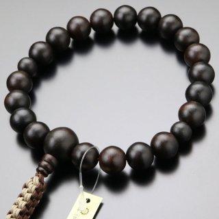 浄土真宗 数珠 男性用 20玉 縞黒檀(艶消し)紐房 101200072