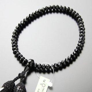 数珠 女性用 スターシェイプ(小)黒オニキス 正絹2色房 102000145 送料無料
