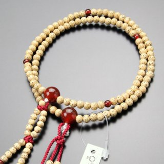日蓮宗 数珠 女性用 8寸 星月菩提樹 瑪瑙 梵天房 102660003 送料無料