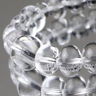 数珠ブレスレット みかん玉(約9×12ミリ) 本水晶 107000184 送料無料