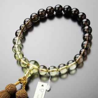 数珠 男性用 22玉 グラデーション 茶水晶/トパーズ 正絹房 101220049 送料無料