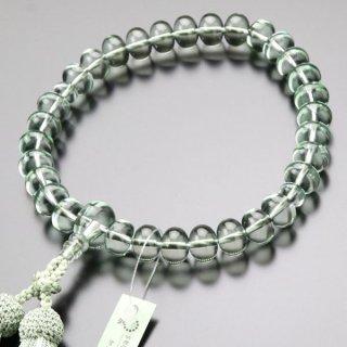 数珠 男性用 31玉 みかん玉 グリーンクォーツ 正絹2色房 101000049 送料無料