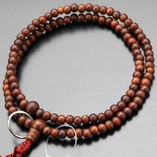 曹洞宗 数珠 女性用 8寸 紫檀(艶消し)本銀輪 正絹房 2000400500146