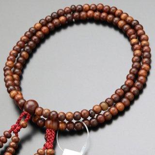 八宗派兼用 数珠 女性用 8寸 紫檀(艶消し)正絹房 102880141