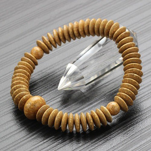 数珠ブレスレット 平玉 天竺菩提樹 丸玉仕立【数珠ブレス/腕輪念珠/107000301】【送料無料】