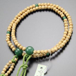 日蓮宗 数珠 女性用 8寸 星月菩提樹 印度翡翠 梵天房 102660029 送料無料