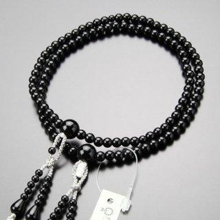 真言宗 数珠 女性用 8寸 黒オニキス 梵天房 102330001 送料無料