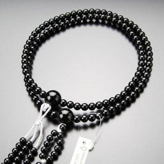 日蓮宗 数珠 男性用 尺二 黒オニキス 梵天房 101660026 送料無料
