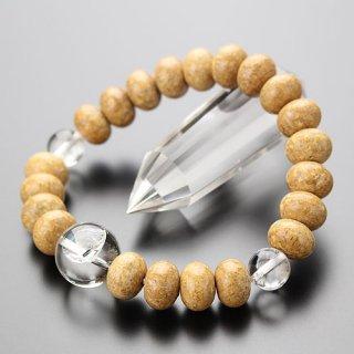 数珠ブレスレット 約8×11.5ミリ 天竺菩提樹 レインボー水晶 107000310 送料無料