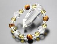 ◆特価◆四神シリーズ(風水・開運)10ミリ虎目石 8ミリ黄水晶 天然石ブレス