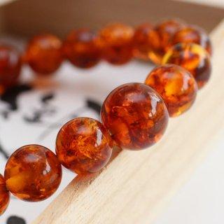 数珠ブレスレット 約10ミリ 琥珀 107100104 送料無料