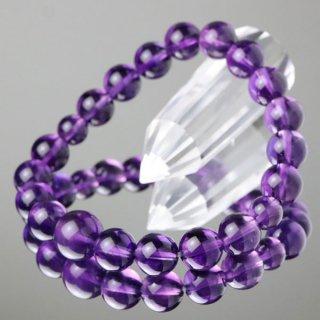 数珠ブレスレット 紫水晶 約10ミリ 5A 107100098 送料無料