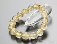 ◆特価◆12ミリ ルチルクォーツ 天然石ブレスレット【パワーストーン】【108120010】【送料無料】