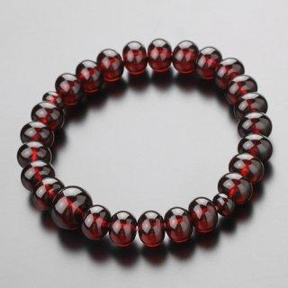 数珠ブレスレット 約7×10ミリ みかん玉 チェリー琥珀 107000246 送料無料