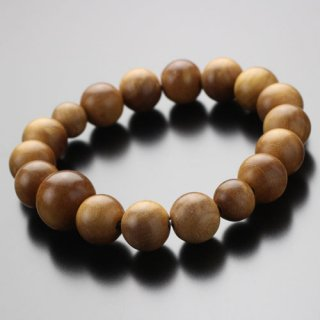 数珠ブレスレット 約14ミリ 白檀 最高級 インド産 2000800301497 送料無料