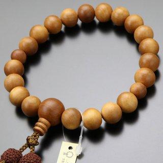 数珠 男性用 20玉 白檀(インド産)正絹2色房 2000100400951 送料無料