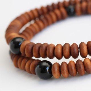 数珠ブレスレット 108玉 白檀 黒オニキス 2000800201322