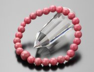 約7ミリ ロードナイト 数珠ブレスレット【腕輪念珠/パワーストーン/天然石/107080015】【送料無料】