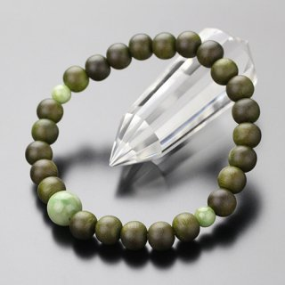 数珠ブレスレット 約8ミリ 緑檀 独山玉 107080045