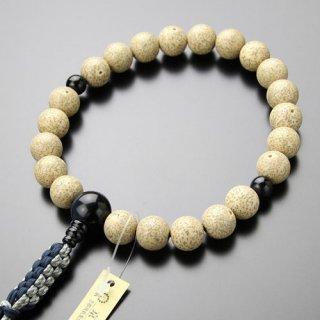 浄土真宗 数珠 男性用 22玉 星月菩提樹 青虎目石 紐房 2000100300725 送料無料