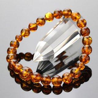 数珠ブレスレット 約8ミリ 琥珀 2000800301657 送料無料