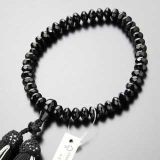 数珠 女性用 スターシェイプ(大)黒オニキス 正絹2色房 2000200401230 送料無料
