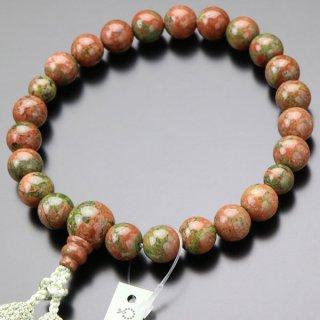 数珠 男性用 22玉 ユナカイト 正絹2色房 101220220 送料無料