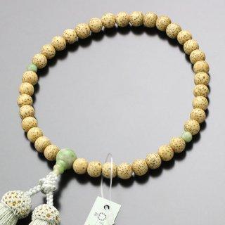 数珠 女性用 約7ミリ 粒撰 星月菩提樹 独山玉 正絹房 2000200301325 送料無料