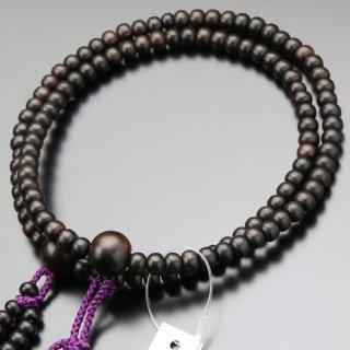 日蓮宗 数珠 女性用 8寸 縞黒檀 梵天房 2000400400484