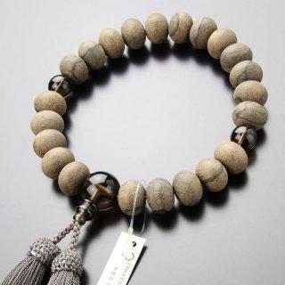 数珠 男性用 22玉 みかん玉 シャム柿 茶水晶 正絹房 101220018 送料無料
