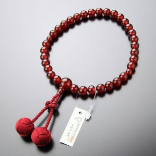 数珠 女性用 約8ミリ 本瑪瑙 梵天房 2000200301424 送料無料