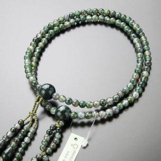 日蓮宗 数珠 男性用 尺寸 青苔瑪瑙 梵天房 101660008 送料無料