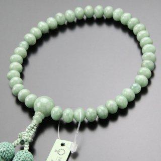 数珠 女性用 みかん玉 ビルマ翡翠 正絹2色房 102000154 送料無料
