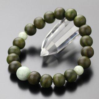 数珠ブレスレット 約10ミリ 緑檀 ビルマ翡翠 2000800201698