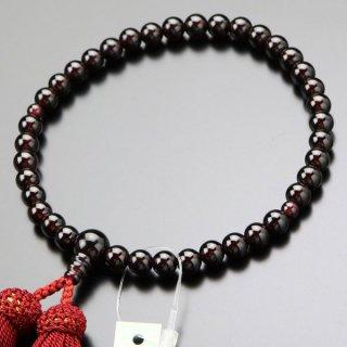 数珠 女性用 約7ミリ ガーネット 正絹房 2000200600237 送料無料