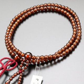 【写真現品お届け】八宗派兼用 数珠 女性用 8寸 オレンジガーネット 正絹房 2000400801427 送料無料